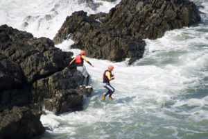 Coasteering in Croyde