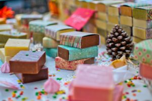 Soaps at a Christmas market